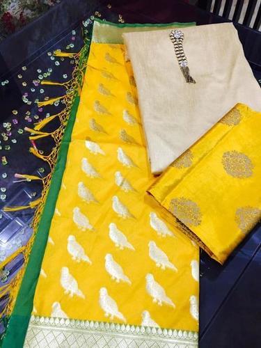Highly Attractive Pure Silk Heavy Banarsi Dupatta