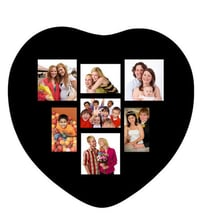 Trendzy Wooden 7-in-1 Heart Shape Collage Wall Photo Frame