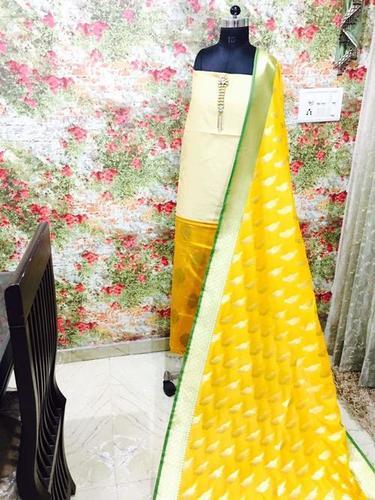 Yellow Color Pure Silk Heavy Banarsi Dupatta