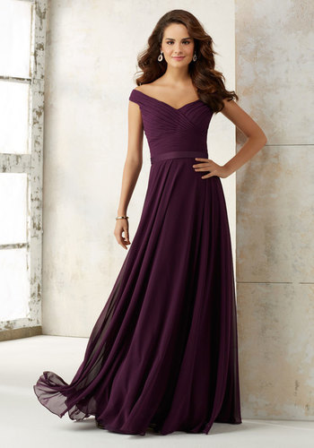 Bridesmaid Dresses With Hand Pleating