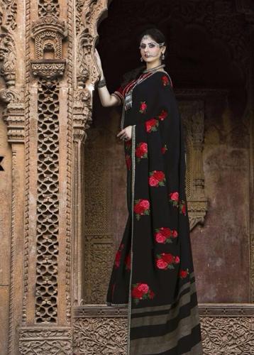 Ladies Black Designer Saree