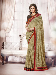 Ladies Lace Border Saree in  Ring Road
