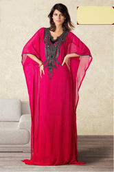 Ladies Red Designer Kaftan