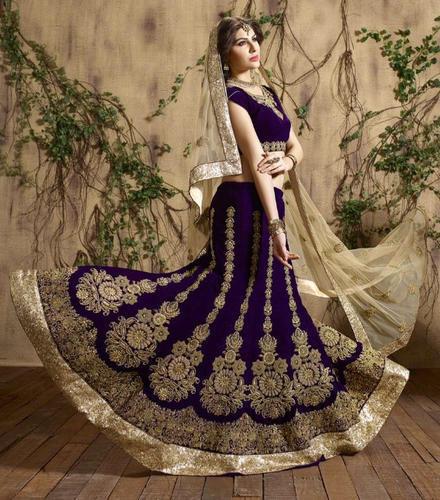 Ladies Velvet Designer Lehengas