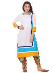 Ladies White Designer Kurti