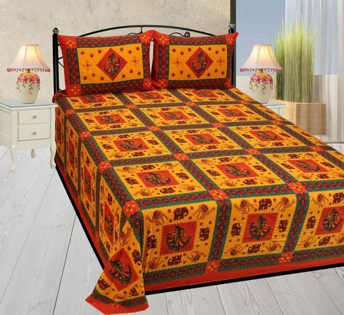 Customized Printed Double Bed Sheet Set Fl