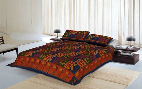 Durable Katha Printed Double Bed Sheet