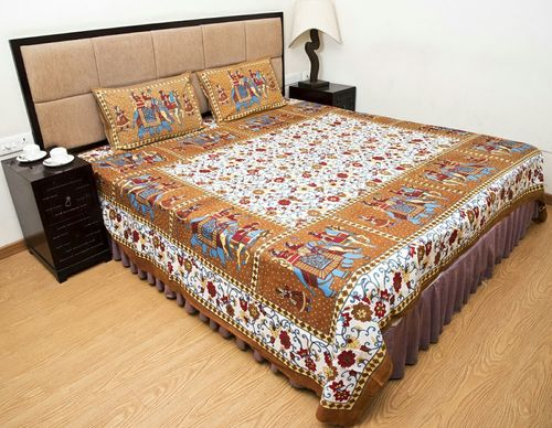 Durable Printed Double Bed Sheets