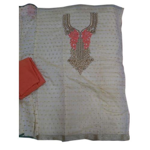 Ladies Chanderi Buti Silk Salwar Suit