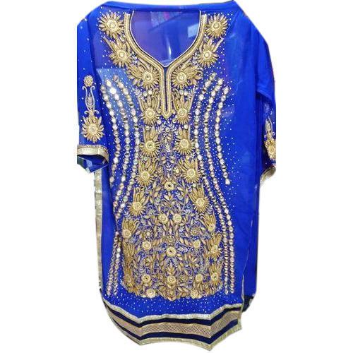 Royal Blue Georgette Semi Stitched Salwar Suit