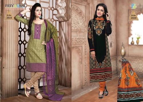 Unstitched Black Design Salwar Suit