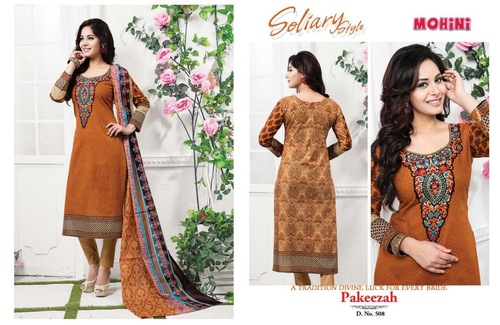 Unstitched Mohini Soliary Style Salwar Suit in  New Area