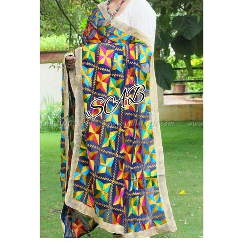 Fancy Phulkari Dupatta in   Bijnor