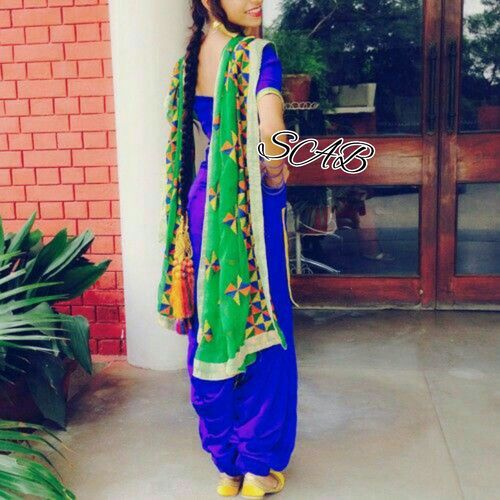 Green Color Phulkari Dupatta