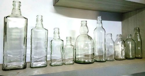 Clear Liquor Glass Bottles