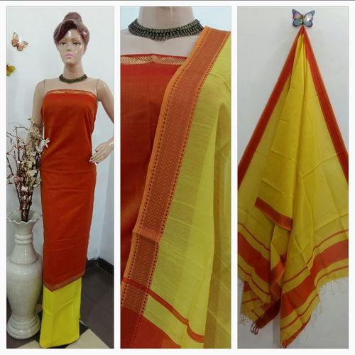 Exclusive Maheshwari Handloom Designer Suits