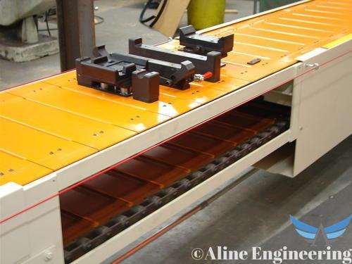Industrial Slat Conveyor System
