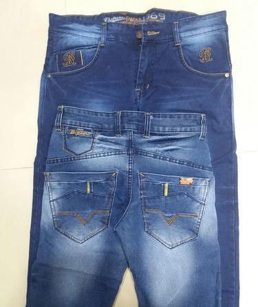 f7053beedf8d Men S Denim Blue And Row Wash Jeans in Ahmedabad