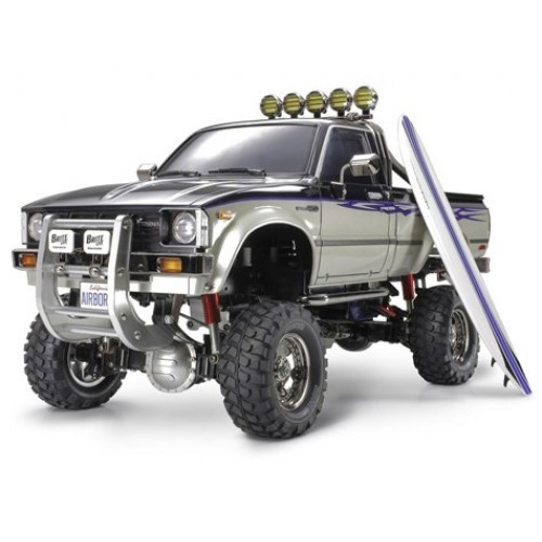 Tamiya Toyota Hilux High-Lift Electric 4X4 Scale Truck Kit w/3-Speed and Surfboard