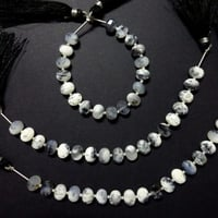 Dendrite Opal Faceted Oval Shape Beads Briolettes