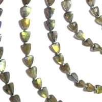 Labradorite Faceted Triangle Shape Beads