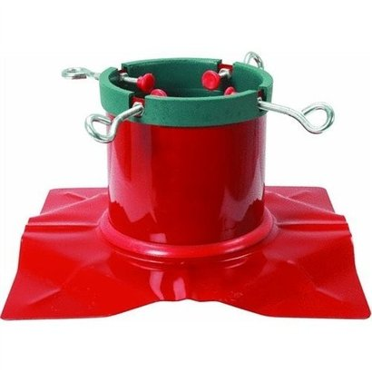 Metal Delicate Red Steel Christmas Tree Stand
