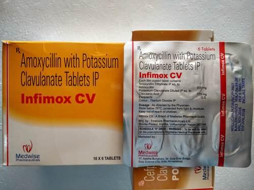 Infimox Cv Amoxicillin And Clavulanic Acid Tablets