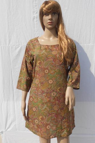 Trendy Ladies Vintage Silk Dress