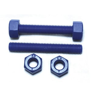 Fluoropolymer Coated Stud Bolt And Nut