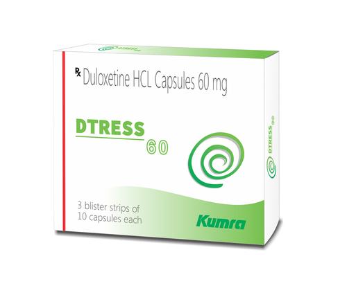 Dtress 60 mg Duloxetine HCL Capsule - Kumra Pharma Private Limited