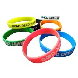 Silicone Wrist Bands in  Red Hills