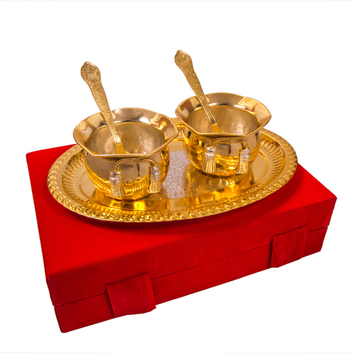Gold Plated Brass Bowl Set For Corporate Gift in  Pratap Nagar