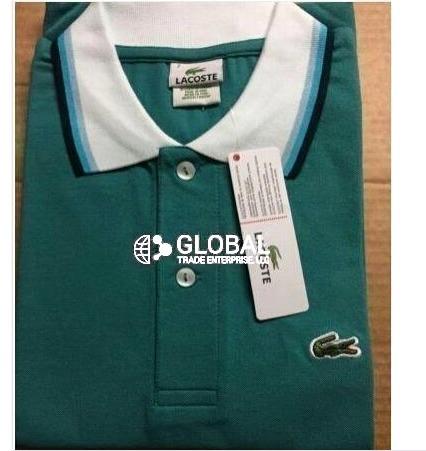 Contrast Collar Polo T Shirt for Men