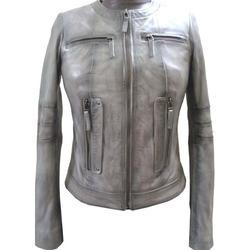 Ladies Lamb Smoky Leather Jacket