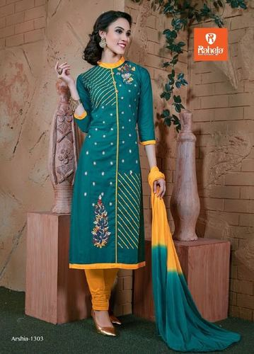 Ladies Cotton Embroidery Salwar Suits