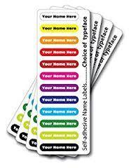 Multicoloured Labels