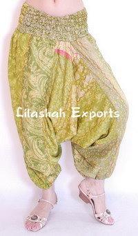 Fashionable Ladies Vintage Silk Trousers