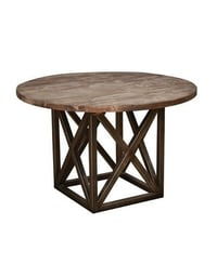 Trendy Round Metal Base Table