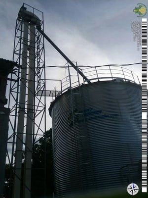 500t Bolted Assembly Galvanized Grain Silo