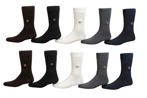 ArkGold Men's Self Design Crew Length Socks