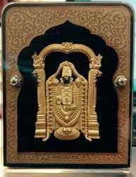 Gold Plated Tirupati Balaji Car Stand