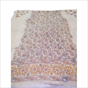 Chikan Embroidery Printed Georgette Sarees