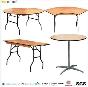 Events Plywood Foldable Table