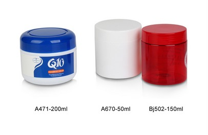 Customized Plastic Cosmetic Cream Jars