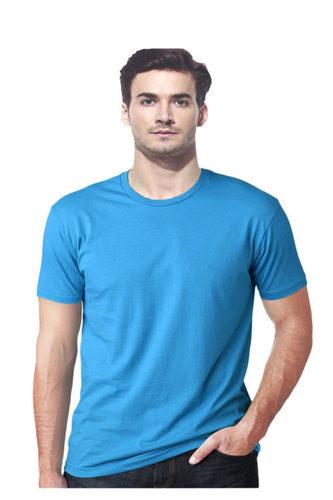 Blue Men Cotton T shirt
