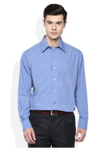 Blue Regular Men Formal Shirt