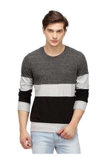 Grey Round Neck Men T-Shirts