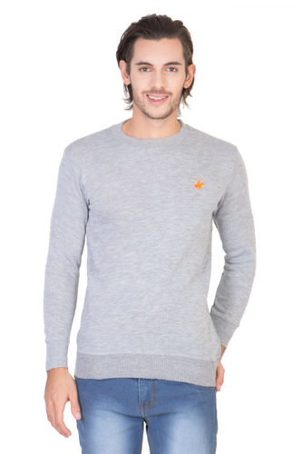 Mens Round Neck Grey T Shirt