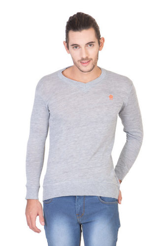 V Neck Grey T Shirt