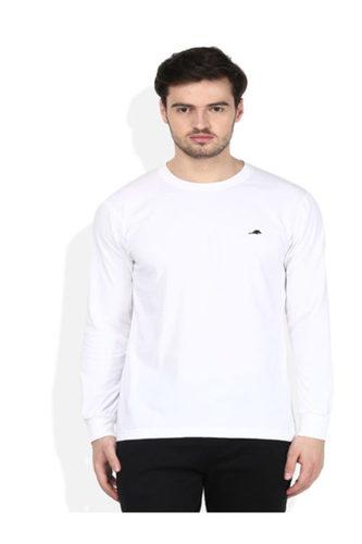 White Round Neck Men T-Shirt